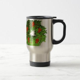 Christmas Wreath 2 Travel Mug