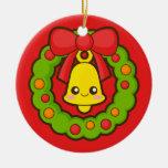 Christmas Wreath and Bell Christmas Ornament
