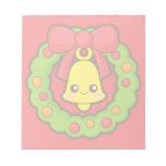 Christmas Wreath and Bell Notepads