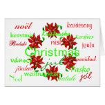 """Christmas Wreath Around The World I"" Card Greeting Cards"