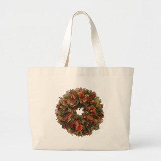 Christmas Wreath Canvas Bag