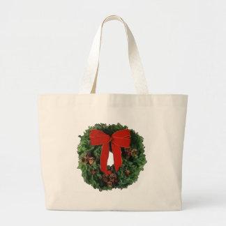 Christmas Wreath Canvas Bags