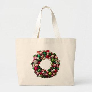 Christmas Wreath Tote Bags