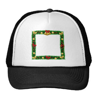 Christmas Wreath Border Frame Trucker Hat
