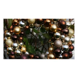 Christmas wreath business card template