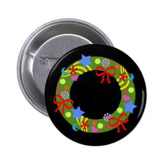 Christmas Wreath 2 Inch Round Button