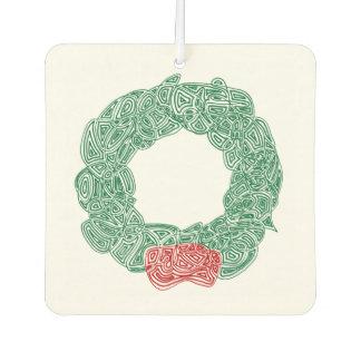 Christmas Wreath Car Air Freshener