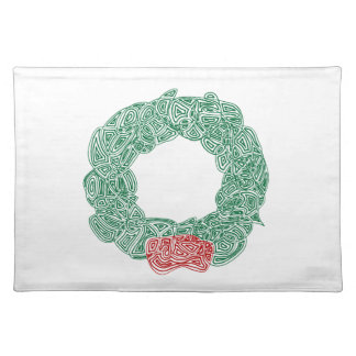 Christmas Wreath Cloth Placemat