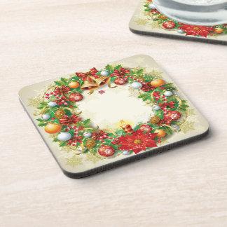 Christmas Wreath Coasters (set of 6)
