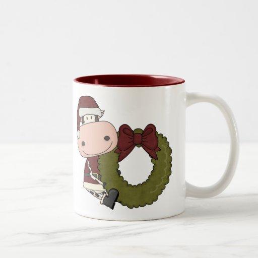 Christmas Wreath - Cow Coffee Mug