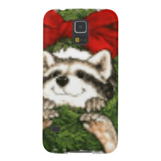 Christmas Wreath Decoration And Raccoon Galaxy S5 Case