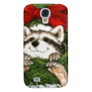 Christmas Wreath Decoration And Raccoon Galaxy S4 Covers