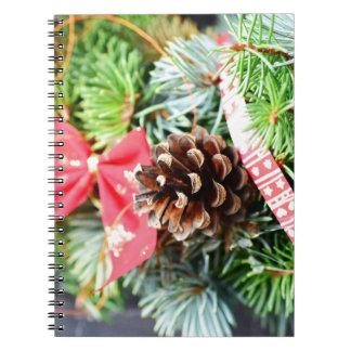 Christmas wreath decoration notebook