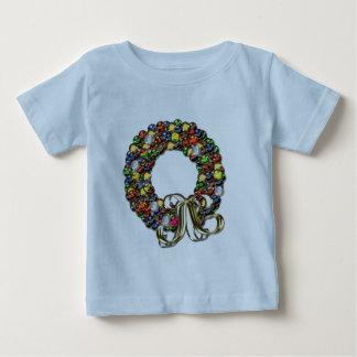 Christmas wreath design baby T-Shirt