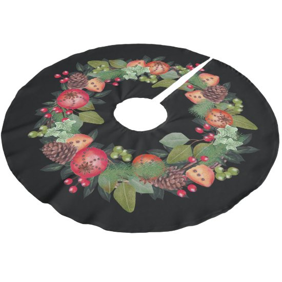 Christmas Wreath Design - Christmas Tree Skirt