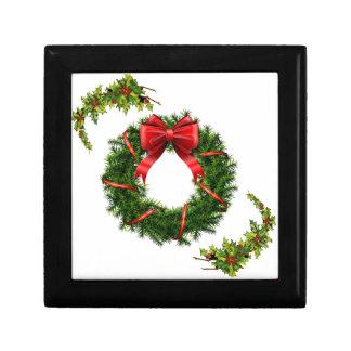 Christmas Wreath Design Collection - Gifts Keepsake Box