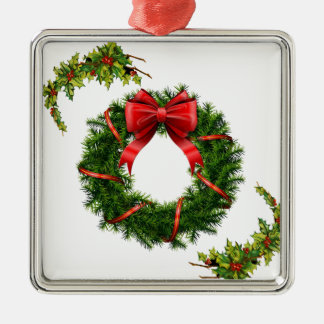 Christmas Wreath Design Collection - Gifts Metal Ornament