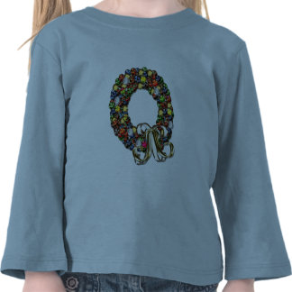 Christmas wreath design shirts