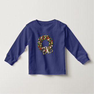 Christmas wreath design toddler t-shirt