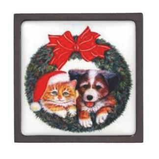 Christmas Wreath Dog & Cat Premium Gift Box