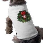 Christmas Wreath Dog Tshirt