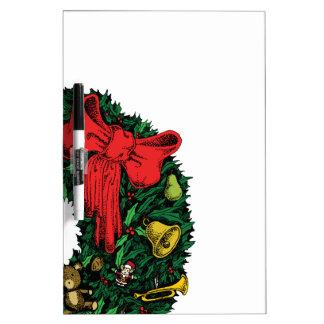 Christmas Wreath Dry Erase Board