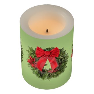 Christmas Wreath Flameless Candle