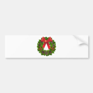 Christmas Wreath for the Holidays Bumper Sticker