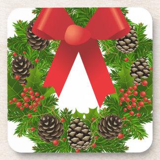 Christmas Wreath for the Holidays Coaster