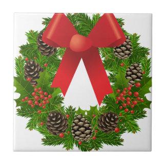 Christmas Wreath for the Holidays Tile