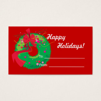 Christmas Wreath Gift Tag