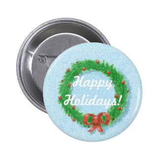 Christmas Wreath Gift Tag Button