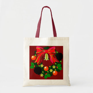 Christmas Wreath Graphic Tote Bags