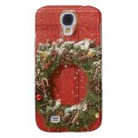 Christmas wreath hanging on a door samsung galaxy s4 cases