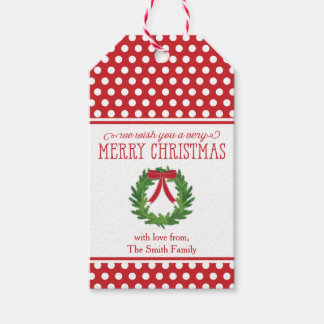Christmas Wreath Holiday Gift Tag