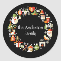 Christmas Wreath Images Sticker