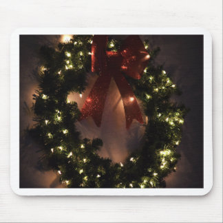 Christmas Wreath in Holiday Glitter and Glow Mouse Pad