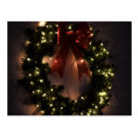 Christmas Wreath in Holiday Glitter and Glow Postcard