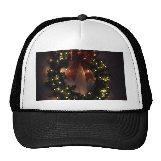 Christmas Wreath in Holiday Glitter and Glow Trucker Hat