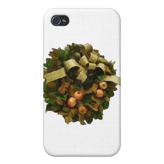 Christmas Wreath iPhone 4/4S Cases