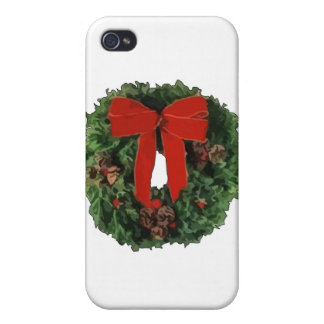 Christmas Wreath iPhone 4 Covers