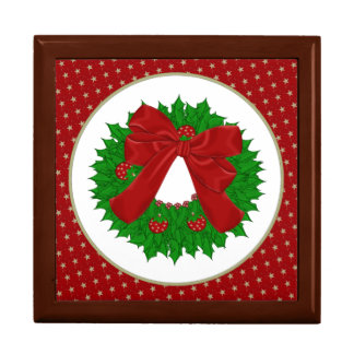 Christmas Wreath Jewelry Box