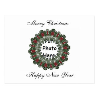 Christmas Wreath Kaleidoscope Postcard
