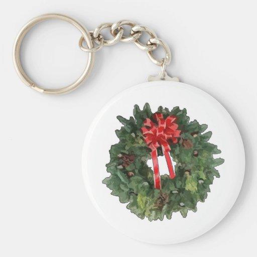 Christmas Wreath Key Chains
