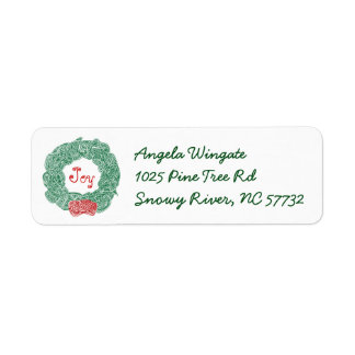 Christmas Wreath Label