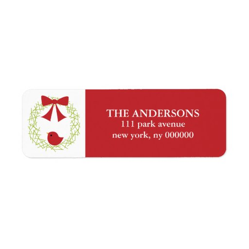 Christmas Wreath Labels
