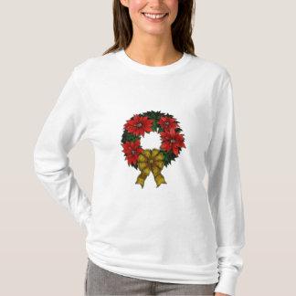 Christmas Wreath Ladies Long Sleev... - Customized T-Shirt