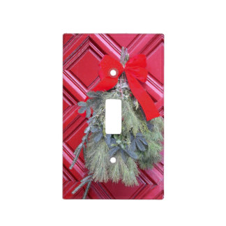 Christmas Wreath Light Switch Cover