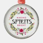 Christmas Wreath Making Spirits Bright Ornaments