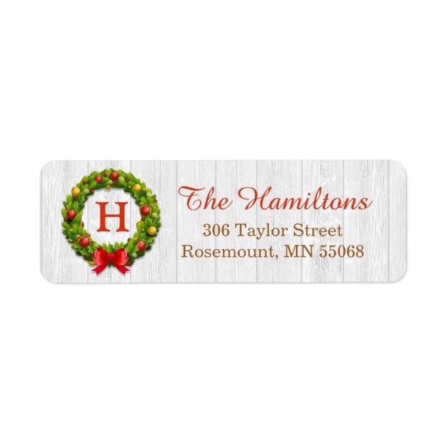 christmas holiday return address labels mimoprints